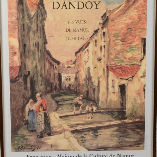 """Poster """" The Book of the painter Albert Dandoy"""".  Color poster under glass. Comm…"""