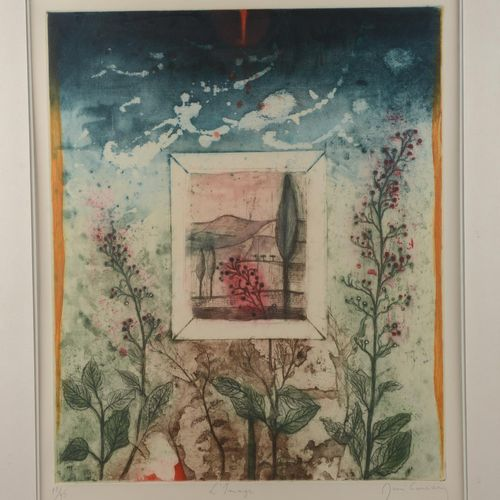 "CARCAN René (1925 1993)  Print signed ""L'Image"" and numbered 12/95.  Size : 58 c…"