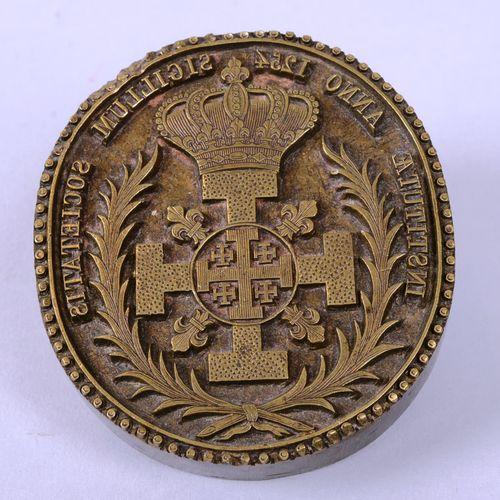 Ordre du St Sépulcre Ordre du Saint Sépulcre de Jérusalem Fer de reliure signé H…
