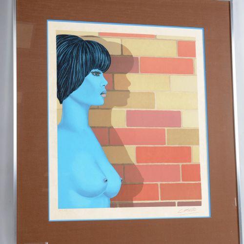 """Félix Labisse (1905 1982) Félix LABISSE (1905 1982)  """" L'ombre sur le mur""""  Lith…"""