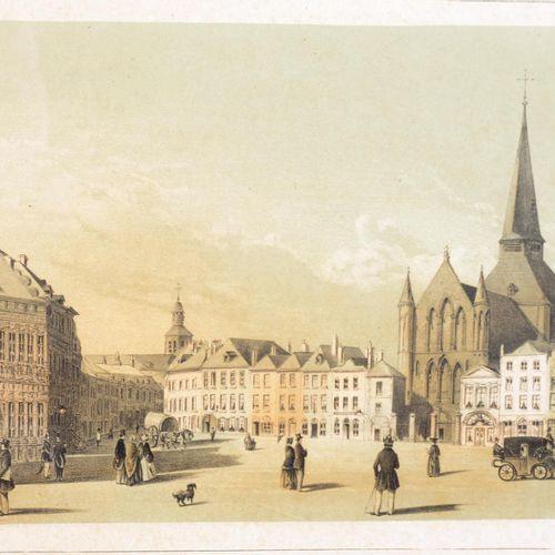 Suite de deux gravures polychrome. Suite de deux gravures polychrome de Tournai.…
