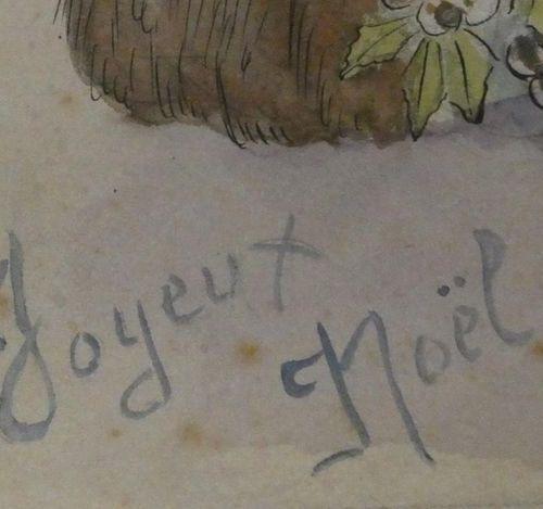 Ecole Française début du Xxè siècle Projet de cartes de vœux et de cartes postal…