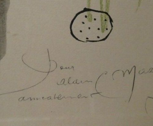 MIRO JOAN d'après (1893 1983) Two lithographs in colors signed in the plate. The…
