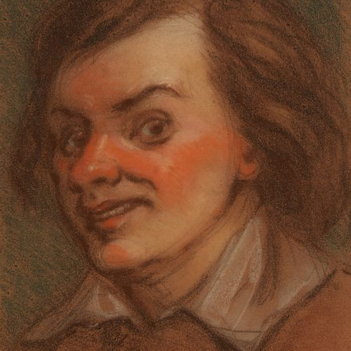 Etienne MARIN MELINGUE (1807 1875)  Portrait d'Acteur  Pastel portant une envoi …