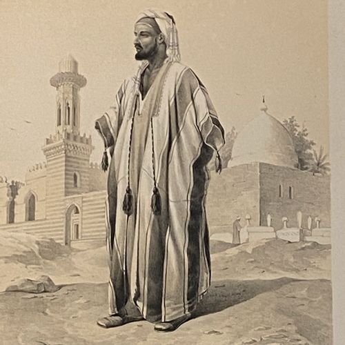 Ensemble de gravures en noir et en couleurs sur le thème orientaliste dont portr…