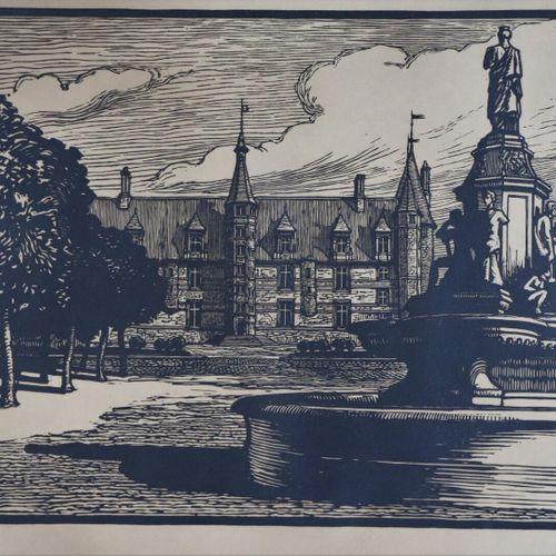 Fernand CHALANDRE (1879 1924).  Nevers, le Palais Ducal et la Place de la Républ…