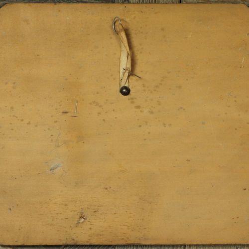 Paire de panneaux en bois pyrogravé figurant Nevers, la Loire pour l'un et Never…