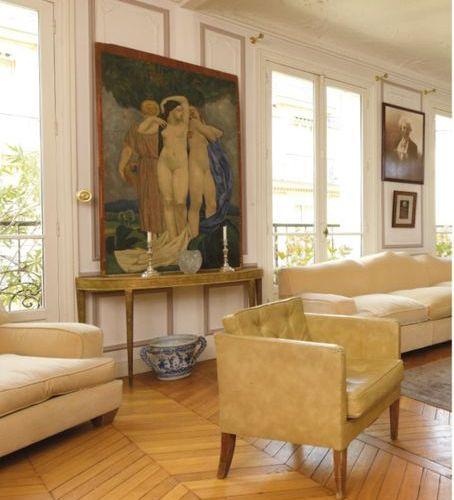 Jean Michel FRANK (1893 1941) Paire de fauteuils club entièrement recouverts de …