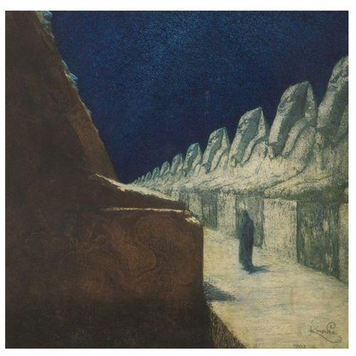Frantisek Kupka (1871 1957) La Voix du silence, 1903 Eau forte et aquatinte en c…