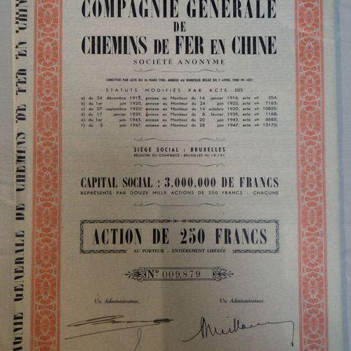 Farde d'actions après 1944 BELGIQUE  Farde d'actions après 1944    Comprenant : …