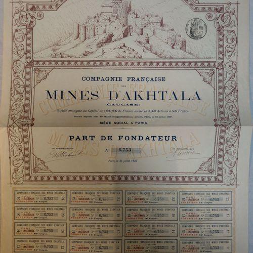 Compagnie Française des Mines d'Akhtala RUSSIE, CAUCASE  Compagnie Française des…