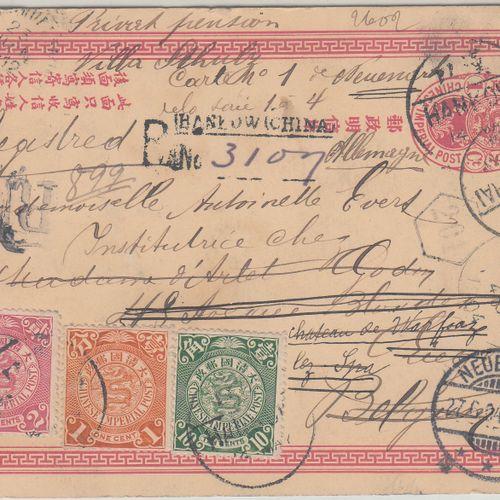 Entier postal illustré (oiseau) recommandé CHINE, 1904  Entier postal illustré (…