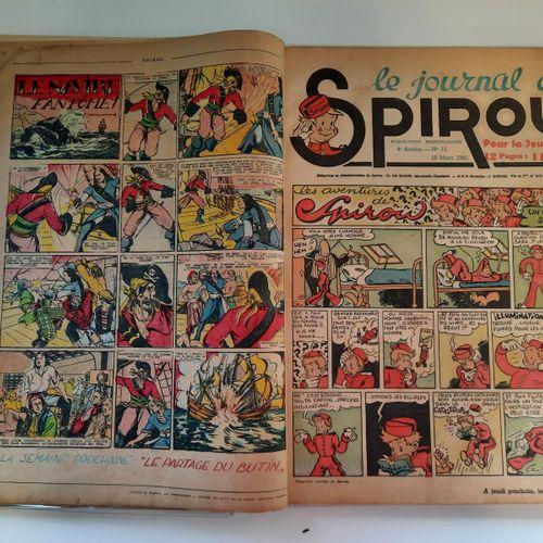 Le Journal de Spirou, Le Journal de Spirou,    Album n°8, 4e année, du n°10, 6 m…