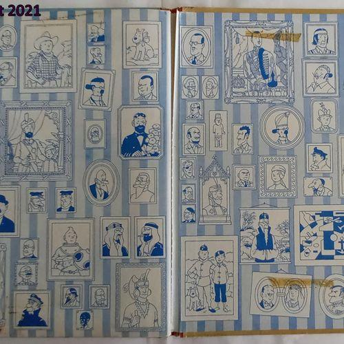 Hergé HERGE  Tintin au Tibet    B29, dos rouge, édition belge, tâches aux plats,…