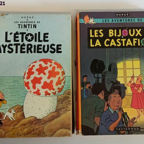 Hergé HERGE  Tintin    lot de 10 bandes dessinées comprenant Le temple du soleil…