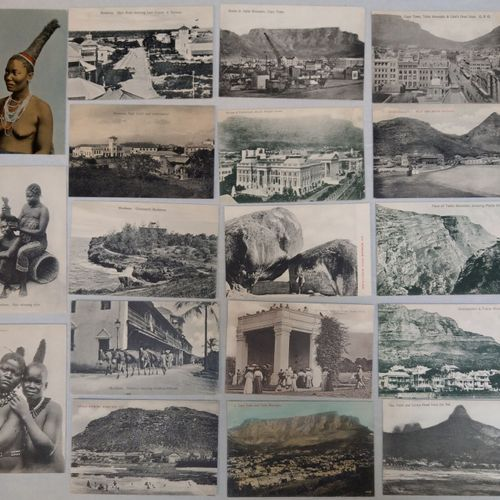 Ensemble de cartes vues AFRIQUE DU SUD, KENYA, ZANZIBAR, RHODÉSIE VERS 1900 1912…