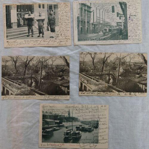 Ensemble de cartes vues CHINE, JAPON, 1905 1907  Ensemble de cartes vues    Ense…