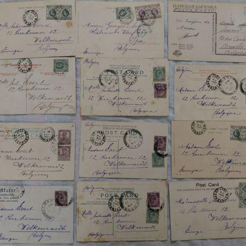 Ensemble de cartes vues EGYPTE, SINGAPOUR, MALAYA, CEYLAN, HONG KONG 1907  Ensem…