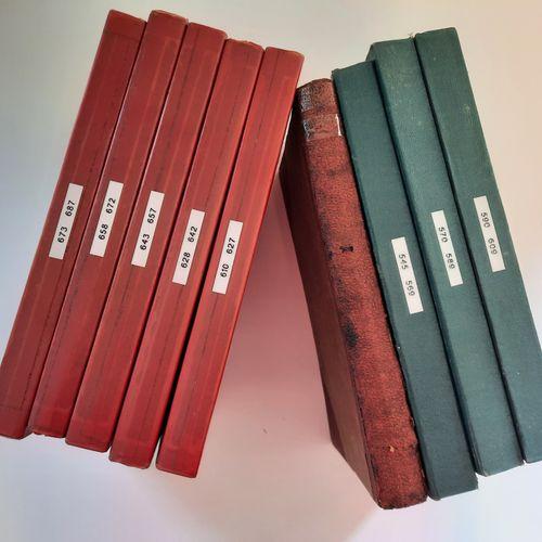 Journal de Spirou, Journal de Spirou,    Lot de 9 albums reliés 'maison' allant …