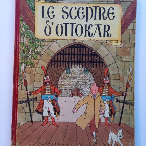 Hergé HERGE  Le sceptre d'Ottokar EO couleur    Dos rouge, 2e plat B1.  Cahier d…