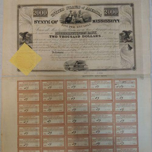 Obligation de 2000 dollars USA, MISSISSIPPI  Obligation de 2000 dollars    Rembo…