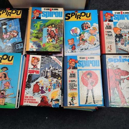 Journal de Spirou, Journal de Spirou,    Lot de 186 albums, reliures d'éditeur, …