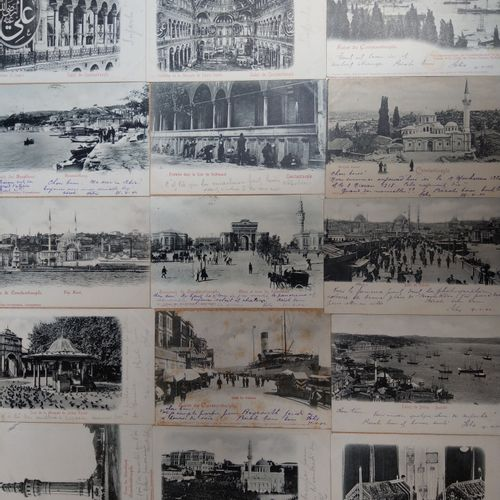 Ensemble de cartes vues TURQUIE, SMYRNE ET CONSTANTINOPLE, VERS 1900  Ensemble d…