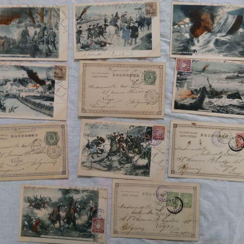 Scènes de la guerre Sino Japonaise en cartes vues CHINE, JAPON 1905 1907  Scènes…