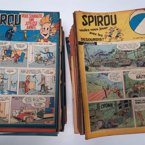 Journal de Spirou, Journal de Spirou,    Série complète de 176 fascicules du n°9…
