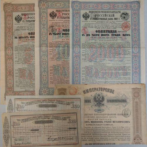 Lot d'emprunts et divers RUSSIE  Lot d'emprunts et divers    Comprenant : Emprun…