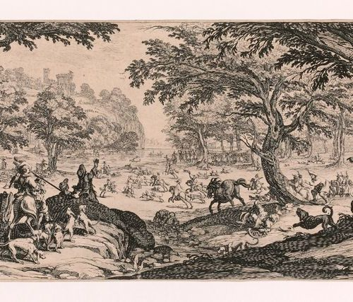 Jacques CALLOT (Nancy 1592 1635)  The Big Hunt  Etching. Meaune 711 Tie 353. In …