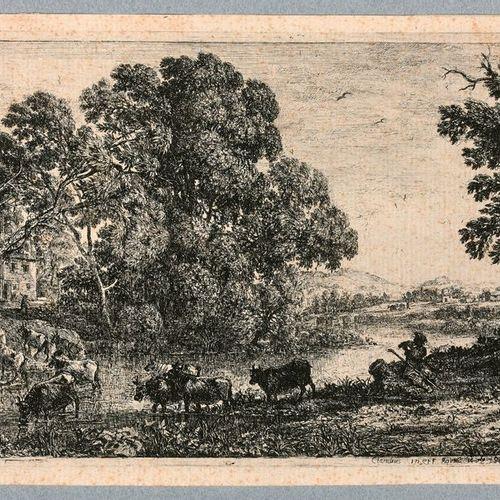 Claude GELLÉE, dit LE LORRAIN (1600 1682)  Le Bouvier  Eau forte. Robert Dumesni…