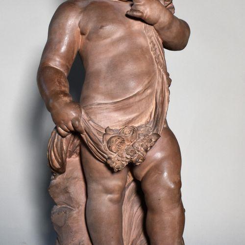 SUJET EN TERRE CUITE : Fillette à la cruche cassée. D'après Auguste MOREAU. Tira…