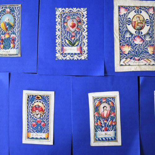 SEPT CANIVETS : S. Denis, S. Maria, Ecce Homo, Antonius, S. Petrus, Coeur enflam…