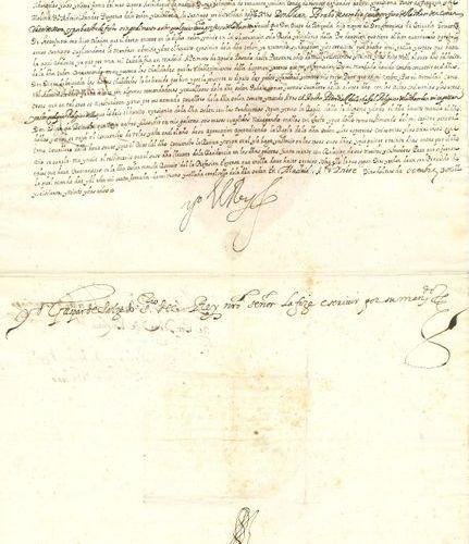 ESPAGNE. PHILIPPE IV (1605 1665), Roi d'Espagne. P.S. « Yo El Rey », Madrid 7 oc…