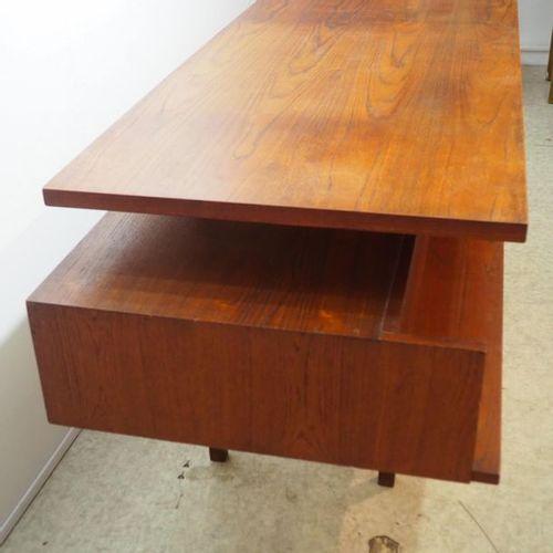 Cees Braackman assigned / Pastoe: Small desk, walnut veneered wood, rectangular …