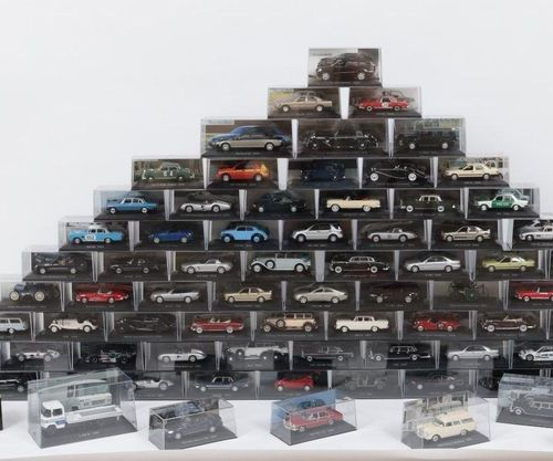 LARGE COLLECTION OF MERCEDES MINIATURES Collection of 83 miniature cars from the…