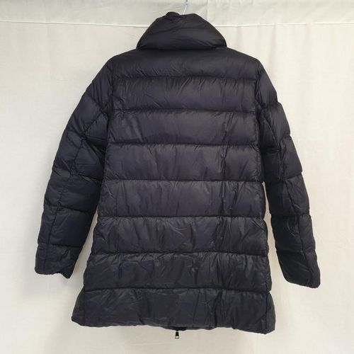 MONCLER year 2019 Navy zipped long jacket, long sleeves, two vertical zipped poc…