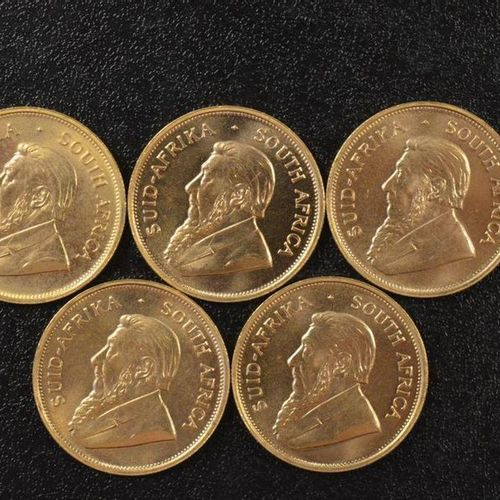 5 Krugerrands in gold of 1 ounce year 1974. Place of deposit: DOMANIAL STORE 3 A…