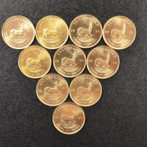 10 Krugerrands in gold of 1 ounce year 1975. Place of deposit: DOMANIAL STORE 3 …