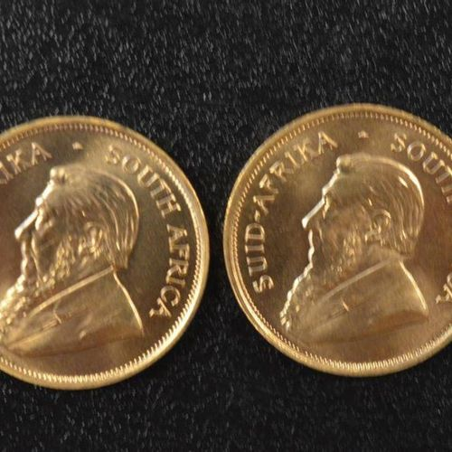 2 Krugerrands in gold of 1 ounce year 1975. Place of deposit: DOMANIAL STORE 3 A…