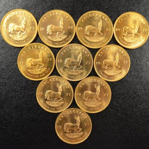 10 Krugerrands in gold of 1 ounce year 1977. Place of deposit: DOMANIAL STORE 3 …