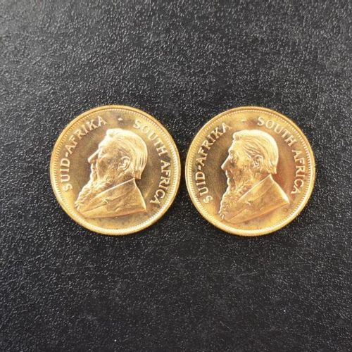 2 Krugerrands in gold of 1 ounce year 1977. Place of deposit: DOMANIAL STORE 3 A…
