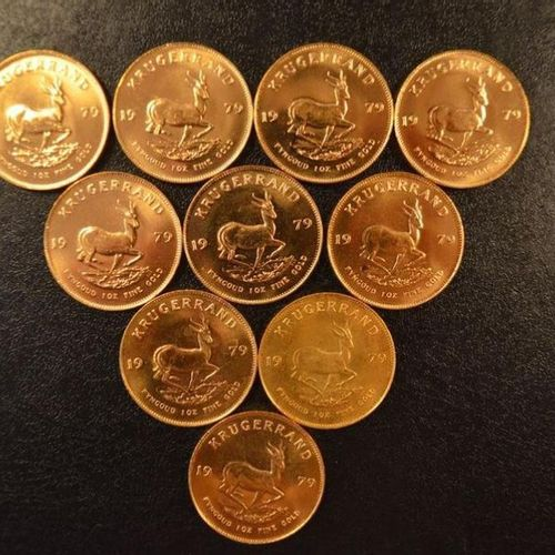 10 Krugerrands in gold of 1 ounce year 1979. Place of deposit: DOMANIAL STORE 3 …