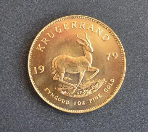 1 Krugerrand in gold of 1 ounce year 1979. Place of deposit: DOMANIAL STORE 3 AV…