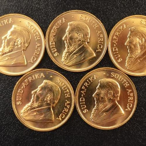 5 Krugerrands in gold of 1 ounce year 1981. Place of deposit: DOMANIAL STORE 3 A…