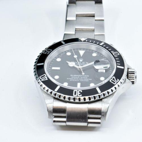 ROLEX Submariner Montre bracelet en acier. Lunette tournante graduée pour les te…
