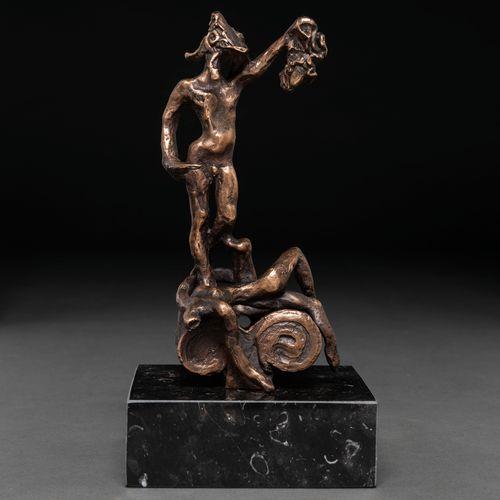 """Salvador DALI (Figueras, 1904 1989) """"Persée avec la tête de la Méduse"""" Sculpture…"""