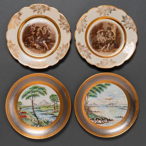 Ensemble de deux plats en porcelaine française de Limoges et en porcelaine tchéc…
