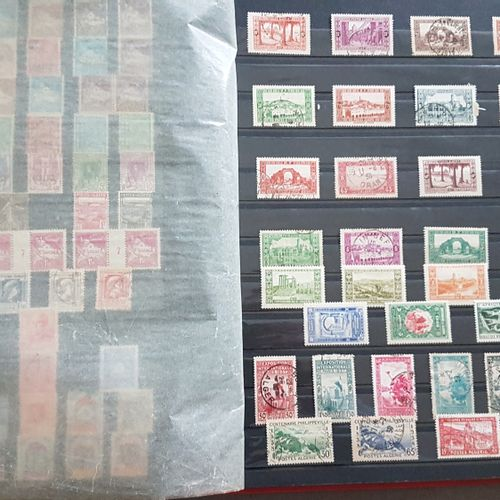 A binder of postage stamps;  France, colonies, Algeria, Morocco. Mint and cancel…